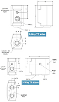 2 Way and 3 Way PTFE Pneumatic Valves - Schematic