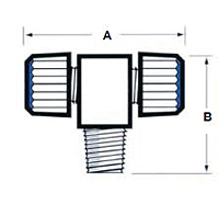 Male Branch Tee Tube Fitting - Schematic