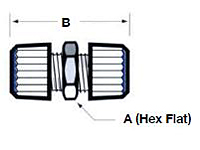 Union Tube Fitting - Schematic