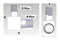 Male Pipe Elbow Reducer Pipe Fitting - Schematic